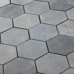 Hexagon Grey 6x6 (30x30)  luonnonkivi