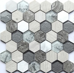 Tour Grey 30x30 hexagonmosaiikki