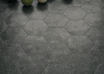 Coralstone Hexagon Black 29,2x25,4 porcelanico