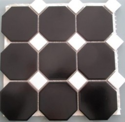 TTC Art Octagon Black 30x30 mosaiikki