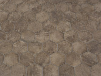 Castilla Manoir Marron Hexagon 21x18,2