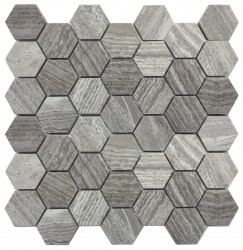 Hexagon Dark Grey 48x48 (300x300) kivimosaiikki verkossa