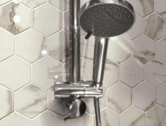 Marmi Carrara Mate Hexagon mosaiikki