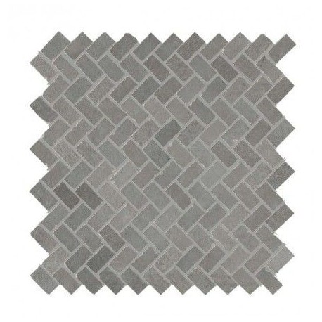 Powder Graphite Mosaic Herringbone 300x300 mm
