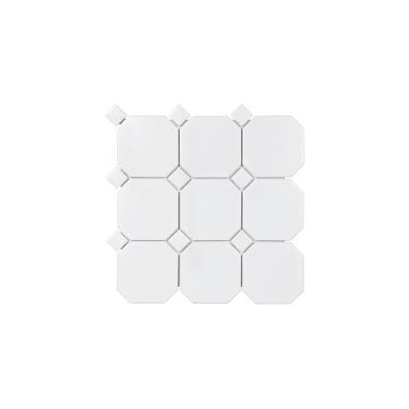 TTC Art Octagon White on White  30x30 mosaiikki
