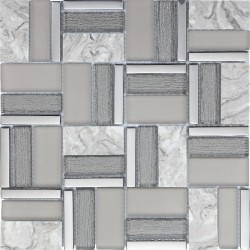 INTER Time Grey 30x30 mosaiikkimix