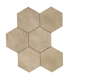 Powder Sand Hexagon 21x18,2 porcelanico