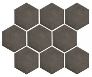 Turenne Clay hexagon 10x12 lattia/seinälaatta